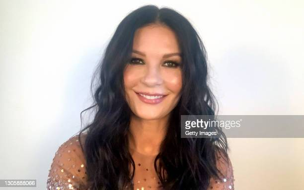 In this screengrab, Catherine Zeta-Jones speaks at the 26th Annual Critics Choice Awards on March 07, 2021.