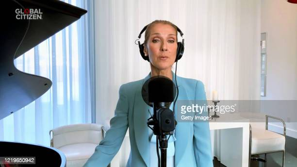 In this screengrab Celine Dion performs during One World Together At Home presented by Global Citizen on April 2020 The global broadcast and digital...