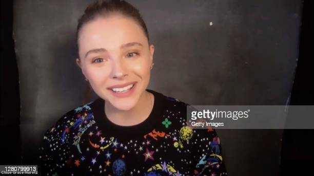 """In this screengrab, Chloë Grace Moretz speaks at the screening of """"Shadow In The Cloud"""" at AFI FEST presented by Audi on October 17, 2020 in Various..."""