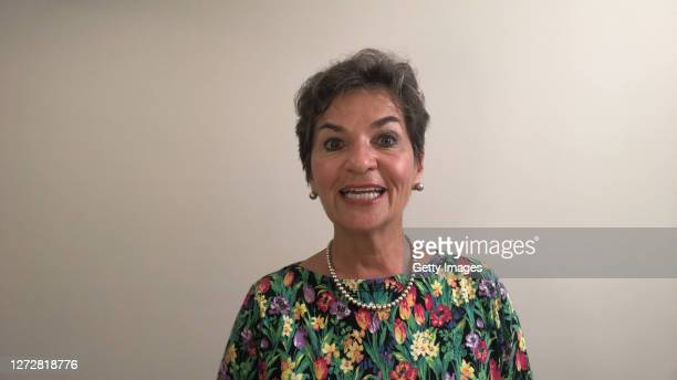 In this screengrab, Christiana Figueres speaks as part of SWITCH GREEN during day 1 of the Greentech Festival at Kraftwerk Mitte aired on September...