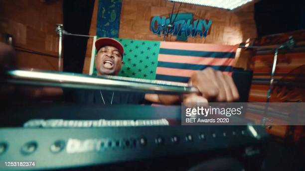 In this screengrab, Chuck D is seen during the 2020 BET Awards. The 20th annual BET Awards, which aired June 28 was held virtually due to...