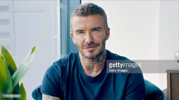 In this screengrab David Beckham during the Global Goal Unite For Our Future Summit Concert on June 27 2020 in UNSPECIFIED United States