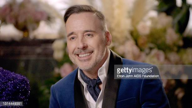 In this screengrab, David Furnish speaks during the 29th Annual Elton John AIDS Foundation Academy Awards Viewing Party on April 25, 2021.
