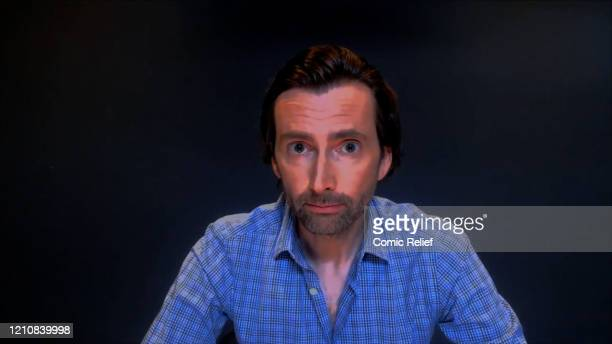 In this screengrab David Tennant takes part in the BBC Children In Need and Comic Relief 'Big Night In at London on April 23 2020 in London...