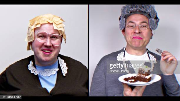 In this screengrab David Walliams and Matt Lucas take part in the BBC Children In Need and Comic Relief 'Big Night In at London on April 23 2020 in...