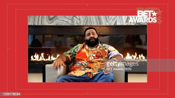 In this screengrab, DJ Khaled is seen during the 2020 BET Awards. The 20th annual BET Awards, which aired June 28 was held virtually due to...