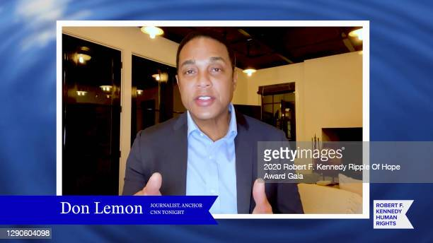 In this screengrab, Don Lemon speaks at the 52nd annual Robert F. Kennedy Ripple of Hope Award gala, honoring courageous human rights defenders on...