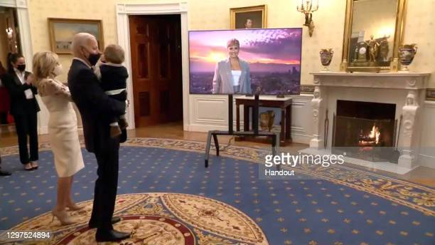 In this screengrab, Dr. Jill Biden, President Joe Biden, and Beau Biden during the Celebrating America Primetime Special on January 20, 2021. The...