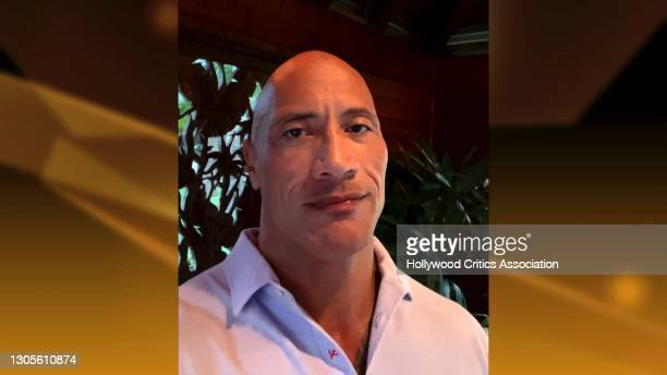 In this screengrab, Dwayne Johnson accepts the Trailblazer Award during The 4th Annual Hollywood Critics Association Film Awards on March 05, 2021.