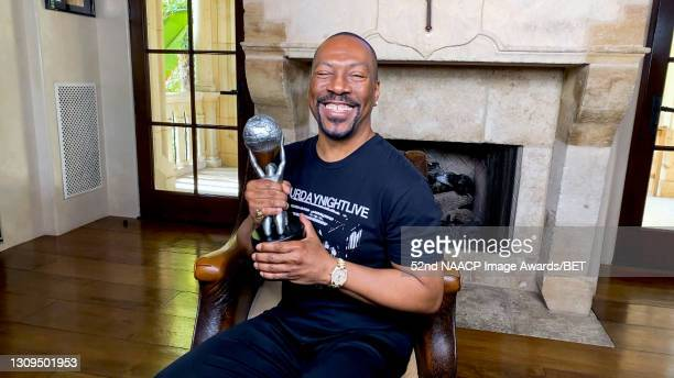 In this screengrab, Eddie Murphy accepts the Hall of Fame Award during the 52nd NAACP Image Awards on March 27, 2021.