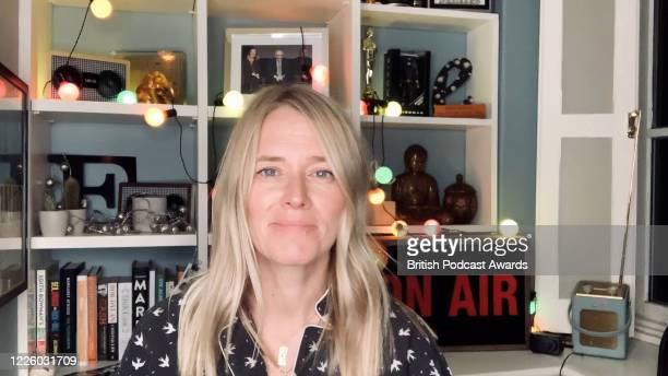 In this screengrab Edith Bowman talks about the Radio Academy's Audio and Radio Emergency Fund during the 2020 British Podcast Awards on July 11 2020