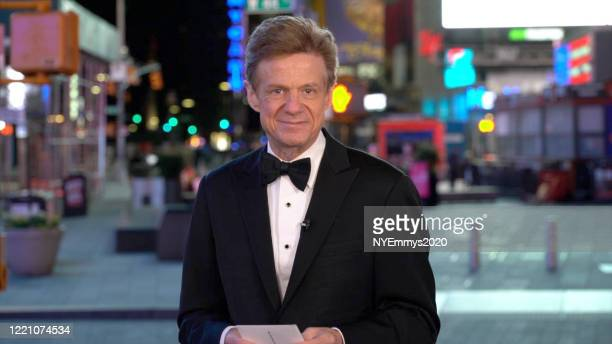 In this screengrab Entertainment Reporter WABCTV Sandy Kenyon speaks on camera during a livestream for the 63rd Annual Emmy Awards on April 25 2020...