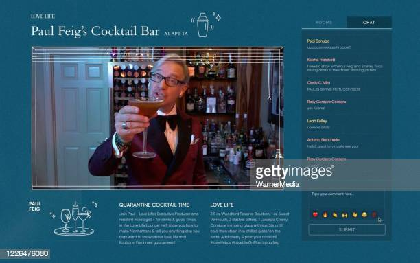 In this screengrab executvie producer Paul Feig mixes cocktails during the virtual premiere of HBO MAX's Love Life on May 21 2020