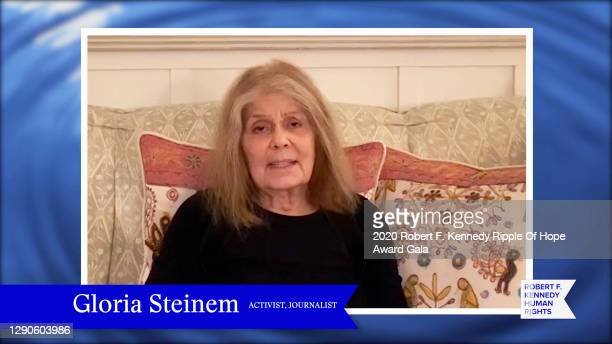 In this screengrab, Gloria Steinem speaks at the 52nd annual Robert F. Kennedy Ripple of Hope Award gala, honoring courageous human rights defenders...