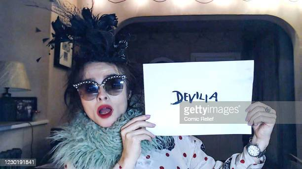 In this screengrab, Helena Bonham Carter plays Devilia during the Cinderella: A Comic Relief Pantomime for Christmas. Olivia Colman leads a stellar...