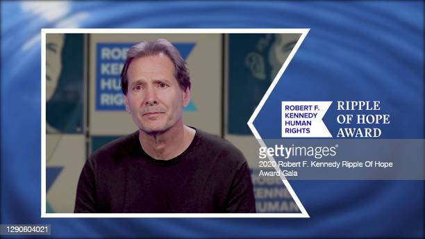 In this screengrab, honoree Daniel Schulman accepts the Ripple of Hope Award at the 52nd annual Robert F. Kennedy Ripple of Hope Award gala, honoring...