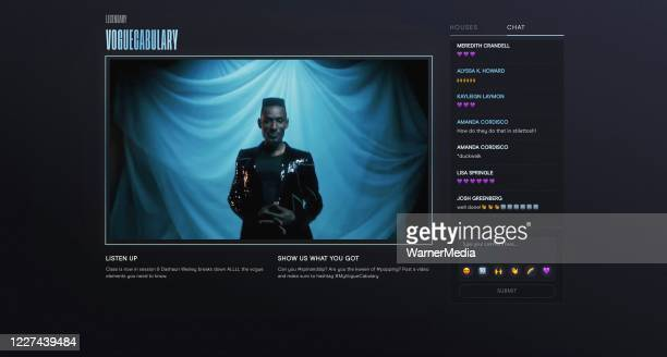 In this screengrab host Dashaun Wesley speaks during the Virtual Premiere of HBO MAX's Legendary after party on May 26 2020