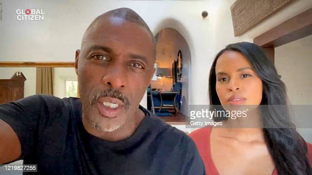 """In this screengrab, Idris Elba and Sabrina Elba speak during """"One World: Together At Home"""" presented by Global Citizen on April 2020. The global..."""