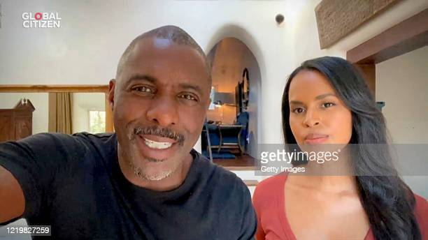 "In this screengrab, Idris Elba and Sabrina Elba speak during ""One World: Together At Home"" presented by Global Citizen on April 2020. The global..."