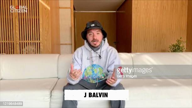 In this screengrab J Balvin speaks during One World Together At Home presented by Global Citizen on April 2020 The global broadcast and digital...