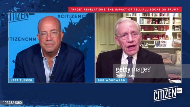 In this screengrab Jeff Zucker and Bob Woodward speak during the CITIZEN by CNN 2020 Conference on September 22 2020 in UNSPECIFIED United States