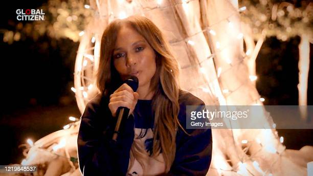 In this screengrab Jennifer Lopez performs during One World Together At Home presented by Global Citizen on April 2020 The global broadcast and...