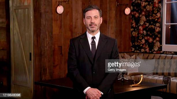 In this screengrab Jimmy Kimmel speaks during One World Together At Home presented by Global Citizen on April 2020 The global broadcast and digital...