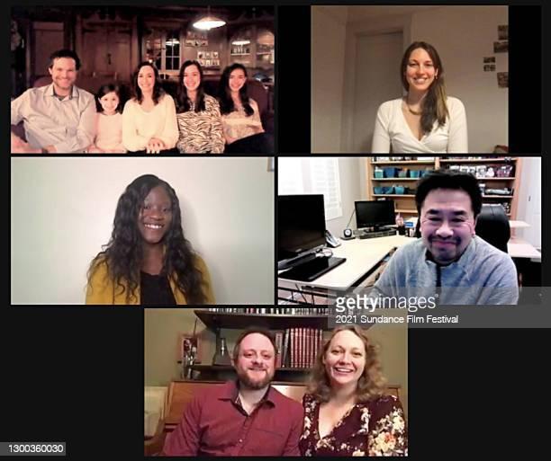 In this screengrab, Joel Nickerson, Rebecca Nickerson, Julia Nickerson, Ella Nickerson, Kyla Nickerson, Nicole Emanuele, Lacy Bussey, Howard Hong,...