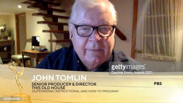 """In this screengrab, John Tomlin accepts the award for Outstanding Instructional and How-To Program for """"This Old House"""" during the 48th Annual..."""