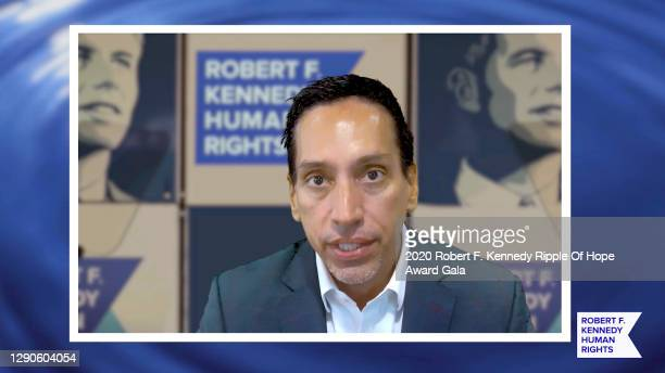 In this screengrab, José E. Feliciano speaks at the 52nd annual Robert F. Kennedy Ripple of Hope Award gala, honoring courageous human rights...