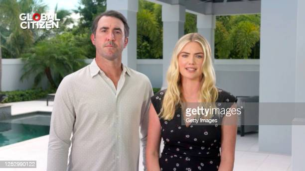 In this screengrab Justin Verlander and Kate Upton speak during the Global Goal Unite For Our Future Summit Concert on June 27 2020 in UNSPECIFIED...