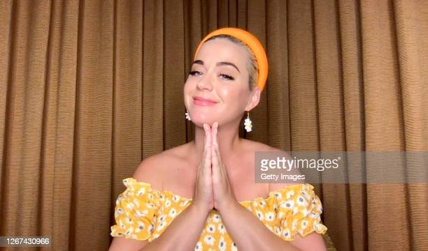 In this screengrab, Katy Perry participates in a Q&A livestream with Singapore-based global e-retailer SHEIN on the SHEIN app on August 20, 2020.