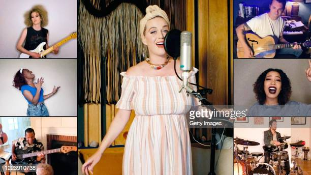 In this screengrab Katy Perry performs during SHEIN Together Virtual Festival to benefit the COVID – 19 Solidarity Response Fund for WHO powered by...