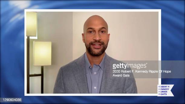 In this screengrab, Keegan-Michael Key speaks at the 52nd annual Robert F. Kennedy Ripple of Hope Award gala, honoring courageous human rights...