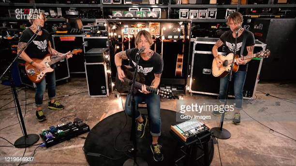 In this screengrab Keith Urban performs during One World Together At Home presented by Global Citizen on April 2020 The global broadcast and digital...