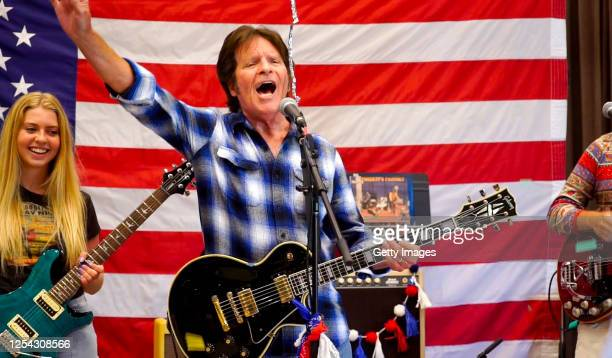 """In this screengrab, Kelsy Fogerty and John Fogerty perform for the 40th Anniversary of """"A Capitol Fourth"""" on PBS on July 04, 2020 in Washington, DC."""