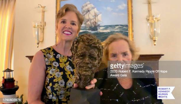 In this screengrab, Kerry Kennedy and Ethel Kennedy speak at the 52nd annual Robert F. Kennedy Ripple of Hope Award gala, honoring courageous human...