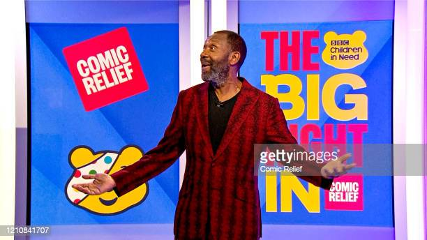 In this screengrab Lenny Henry takes part in the BBC Children In Need and Comic Relief 'Big Night In at London on April 23 2020 in London EnglandThe...