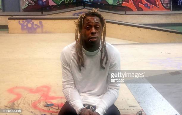 """In this screengrab, Lil Wayne speaks during """"Saving Our Selves: A BET COVID-19 Effort"""" airing on April 22, 2020. """"Saving Our Selves: A BET COVID-19..."""