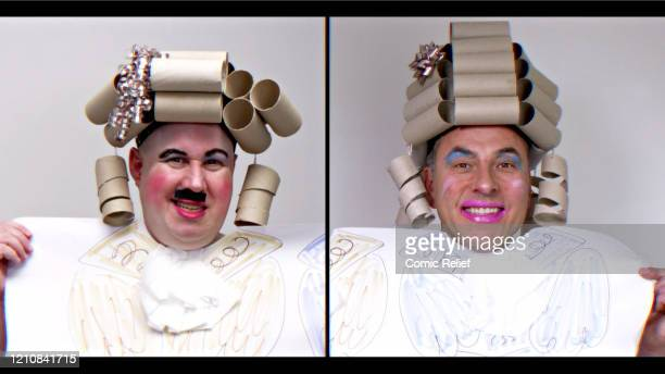 In this screengrab Matt Lucas and David Walliams take part in the BBC Children In Need and Comic Relief 'Big Night In at London on April 23 2020 in...