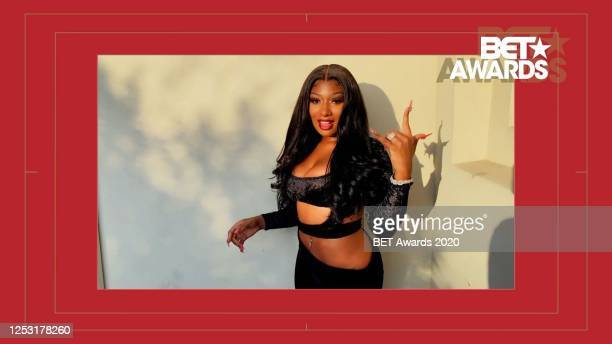In this screengrab Megan Thee Stallion is seen during the 2020 BET Awards The 20th annual BET Awards which aired June 28 was held virtually due to...