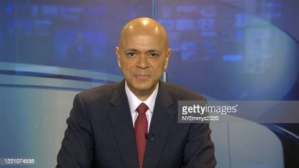 In this screengrab NBC News Anchor David Ushery speaks on camera during a livestream for the 63rd Annual Emmy Awards on April 25 2020 in New York NY...