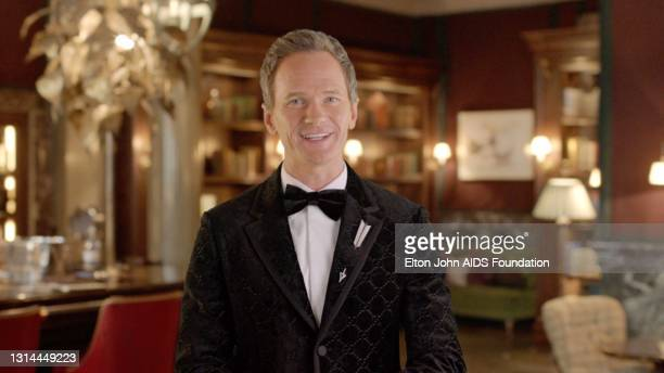 In this screengrab, Neil Patrick Harris speaks during the 29th Annual Elton John AIDS Foundation Academy Awards Viewing Party on April 25, 2021.
