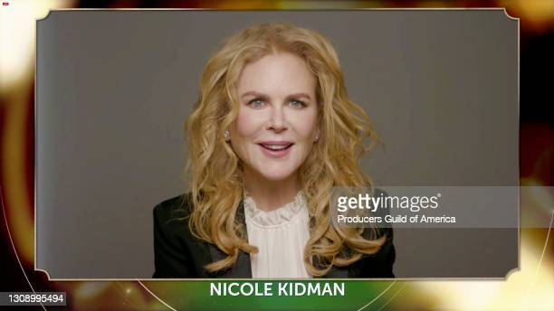 In this screengrab, Nicole Kidman speaks during the 32nd Annual Producers Guild Awards on March 24, 2021.