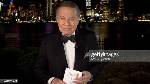 In this screengrab NY NATAS Awards Chair Marvin Scott speaks on camera during a livestream for the 63rd Annual Emmy Awards on April 25 2020 in...