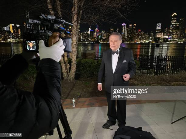 In this screengrab NY NATAS Awards Chair Marvin Scott speaks on camera in front of the Weehawken Waterfront during a livestream for the 63rd Annual...