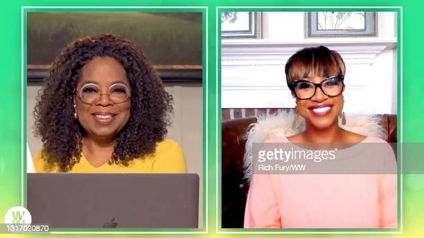 """In this screengrab, Oprah Winfrey and Dr. Anita Phillip speak during WW Presents """"Oprah's Your Life In Focus: Spring Forward Stronger"""" on May 08,..."""