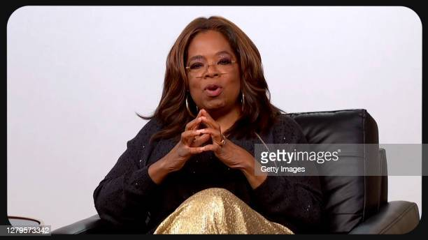 In this screengrab Oprah Winfrey appears during the 2020 Carousel of Hope Ball benefiting the Children's Diabetes Foundation on October 10, 2020 in...