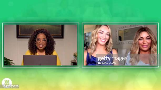 """In this screengrab, Oprah Winfrey, Chloe Duke and Victoria Duke speak during WW Presents """"Oprah's Your Life In Focus: Spring Forward Stronger"""" on May..."""