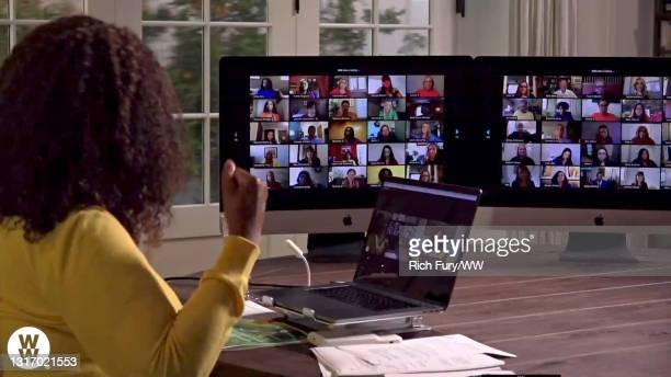 """In this screengrab, Oprah Winfrey speaks during WW Presents """"Oprah's Your Life In Focus: Spring Forward Stronger"""" on May 08, 2021."""